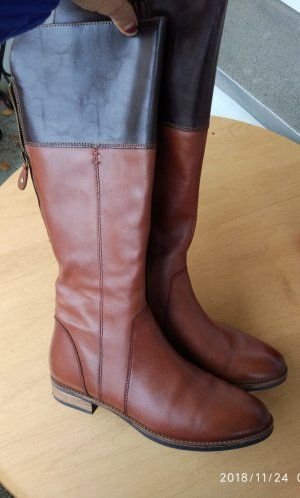 Tamaris Wide Calf Boots brown-black leather