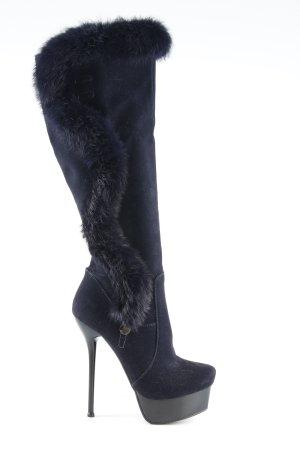 Feida Absatz Stiefel dunkelblau-schwarz extravaganter Stil