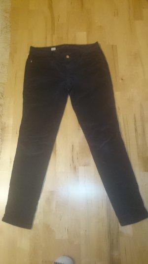 Hilfiger Corduroy broek donkerblauw Katoen