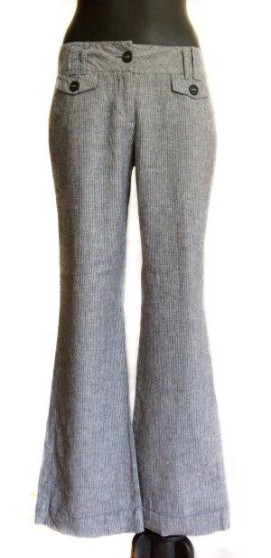 Avanti Pantalon en lin gris-blanc lin
