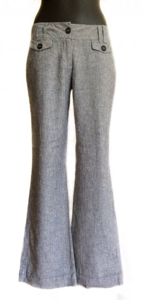 Avanti Linen Pants grey-white linen