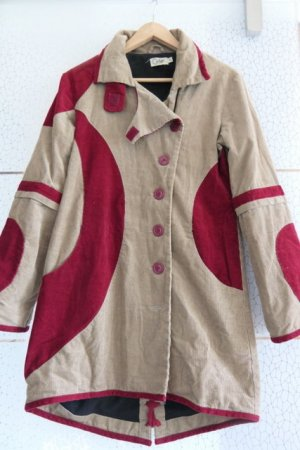 Colins Between-Seasons-Coat camel-dark red cotton