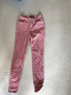 Amisu Pantalón de pana malva-lila grisáceo