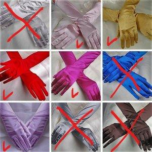 Gants de soirée multicolore tissu mixte
