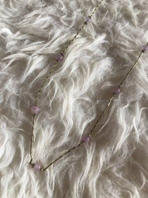 Collana di perle color oro rosa