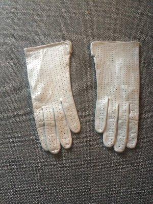 Guanto in pelle grigio chiaro-grigio Pelle