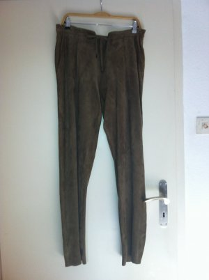 Riani Leather Trousers camel leather