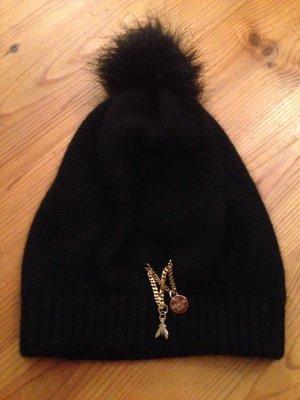 Patrizia Pepe Chapeau en tricot noir-doré