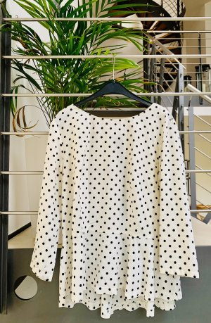 New Look Ruche blouse wit-zwart
