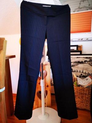 Pantalon à pinces bleu foncé
