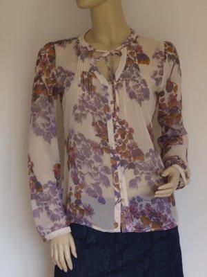 feine, transparente Bluse mit Binsen, neuwertig