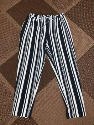 Zara Basic 7/8-broek donkerblauw-wit