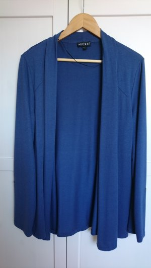 feiner Cardigan blau, mit Schalkragen, L, Strickjacke