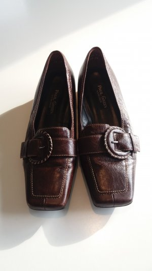 Paul Green Slippers dark brown leather