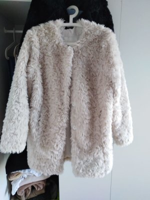 C&A Fake Fur Coat cream