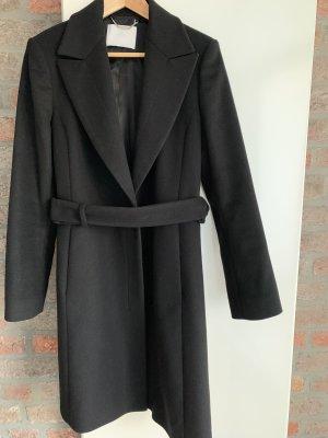 Hugo Boss Wollen jas zwart