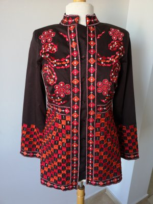 Gabardina tipo vestido multicolor