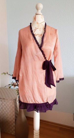 Etam Peignoir rosé-violet soie