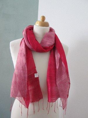 feiner Seidenschal in pink/rosé