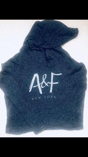 Abercrombie & Fitch Jersey de punto azul oscuro-blanco