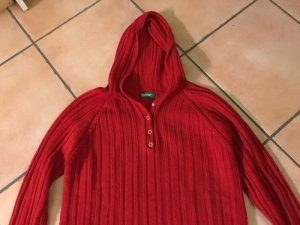 Benetton Capuchon sweater baksteenrood