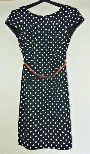 Feines Businesskleid mit Polka Dot-Muster