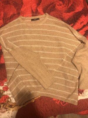 Mango Maglione lavorato a maglia bianco-color cammello
