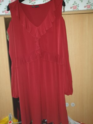 Bodyflirt Cut out jurk donkerrood