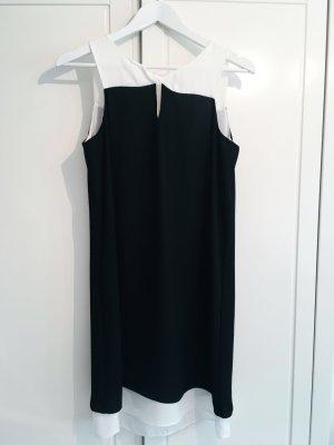 Feines Kleid schwarz weiß Gr. 36