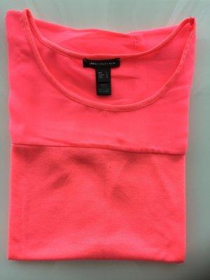 Feines Shirt in Neon Pink