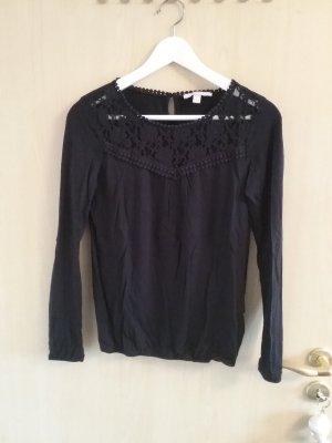 feines shirt von esprit, schwarz, gr. xs