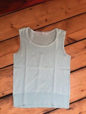 Tommy Hilfiger Haut tricotés blanc-bleu clair