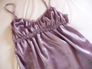 3 Suisses Lace Top grey lilac satin