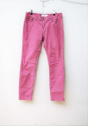 H&M Pantalone di velluto a coste rosa-viola Cotone