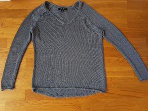 Amisu V-Neck Sweater slate-gray