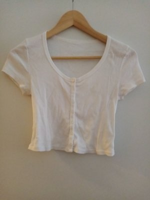 American Apparel Cropped Top white cotton