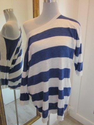 Feinstric Pullover Blau Weiss gestreift Gr.M/L