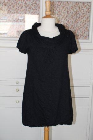Feinstrick-Ballon Kleid mit kurzen Ärmeln, Gr. M