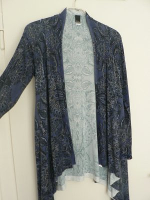 Feinstrick Cardigan B.C. blau gemustert