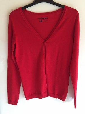 Feinstrick-Cardigan in rot/ Größe S/ ungetragen