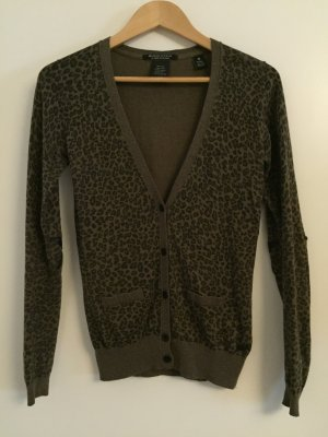 Feinstrick-Cardigan mit Leopardenmuster