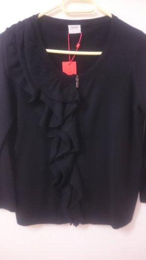 Feinstrick-Cardigan mit Reißverschluss und toller Blende Neu