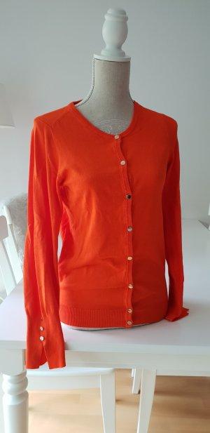 Feinstrick Cardigan Orange Zara Gr. L