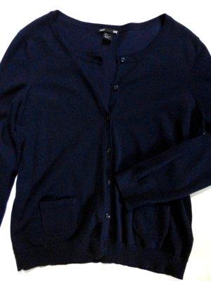 Feinstrick Cardigan von H&M in Gr. L + Modeschmuckkette in türkis