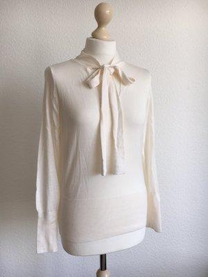 Feinstrick creme weiß Pullover Shirt s 36 h&m