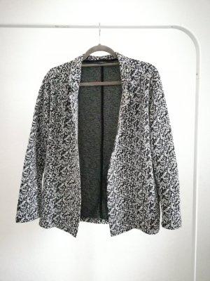 Only Knitted Blazer black-white polyester