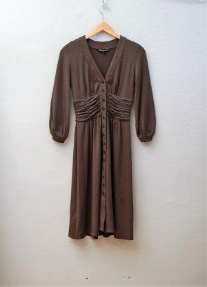 Feinstrick-Kleid in Dunkelgrün
