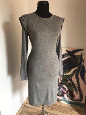 Feinstrick-Kleid mit Rüschen (ohne Gürtel), 36/38
