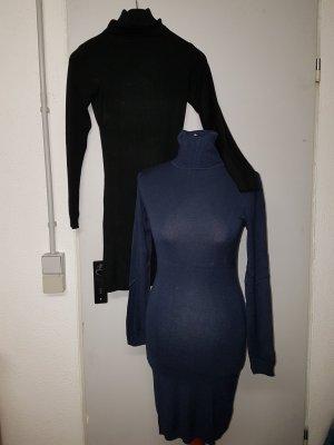 Feinstrick/ Longpulli/ Strickkleid in SCHWARZ- auch in braun und blau erhältlich