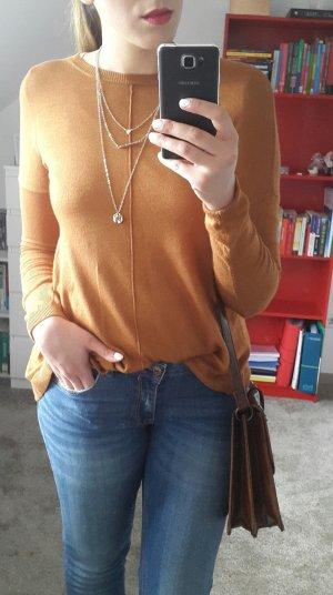 Feinstrick Pullover Cognac Farben
